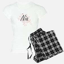 Nia Artistic Name Design wi Pajamas