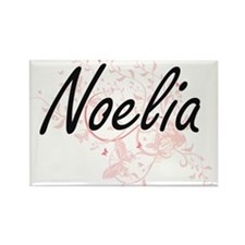 Noelia Artistic Name Design with Butterfli Magnets