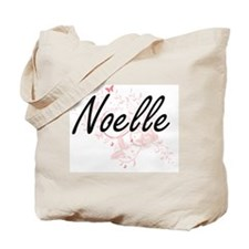 Noelle Artistic Name Design with Butterfl Tote Bag