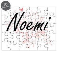 Noemi Artistic Name Design with Butterflies Puzzle