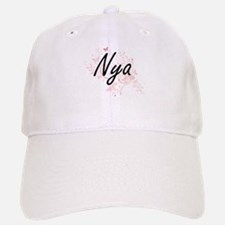Nya Artistic Name Design with Butterflies Baseball Baseball Cap