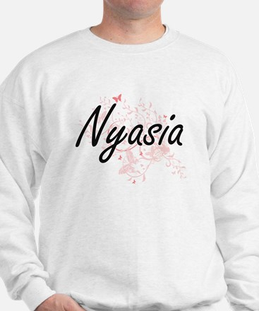 Nyasia Artistic Name Design with Butter Sweater
