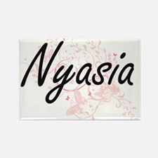 Nyasia Artistic Name Design with Butterfli Magnets
