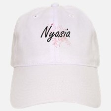 Nyasia Artistic Name Design with Butterflies Baseball Baseball Cap