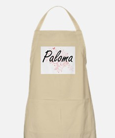 Paloma Artistic Name Design with Butterflies Apron