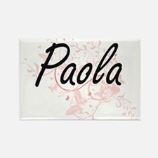 Paola Artistic Name Design with Butterflie Magnets