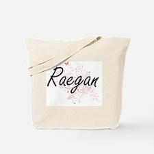 Raegan Artistic Name Design with Butterfl Tote Bag
