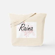 Raina Artistic Name Design with Butterfli Tote Bag