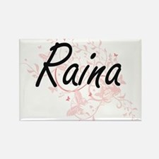 Raina Artistic Name Design with Butterflie Magnets