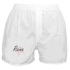 Raina Artistic Name Design with Butte Boxer Shorts