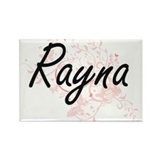 Rayna Artistic Name Design with Butterflie Magnets