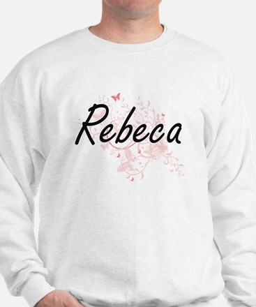 Rebeca Artistic Name Design with Butter Sweater