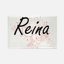 Reina Artistic Name Design with Butterflie Magnets
