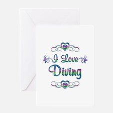 I Love Diving Greeting Card