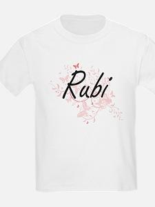 Rubi Artistic Name Design with Butterflies T-Shirt