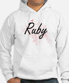Ruby Artistic Name Design with B Hoodie