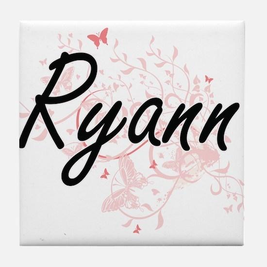 Ryann Artistic Name Design with Butte Tile Coaster