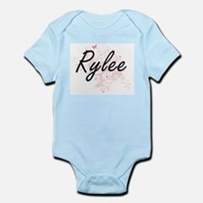 Rylee Artistic Name Design with Butterfl Body Suit
