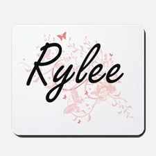 Rylee Artistic Name Design with Butterfl Mousepad
