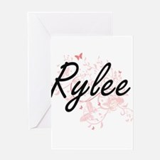 Rylee Artistic Name Design with But Greeting Cards