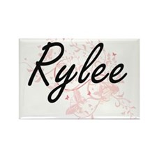 Rylee Artistic Name Design with Butterflie Magnets