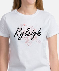 Ryleigh Artistic Name Design with Butterfl T-Shirt