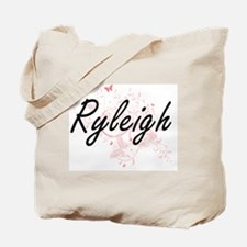 Ryleigh Artistic Name Design with Butterf Tote Bag