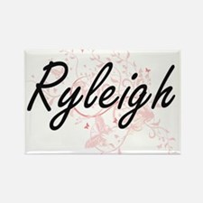 Ryleigh Artistic Name Design with Butterfl Magnets