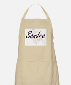 Sandra Artistic Name Design with Butterflies Apron