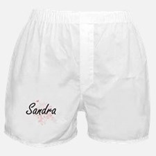 Sandra Artistic Name Design with Butt Boxer Shorts