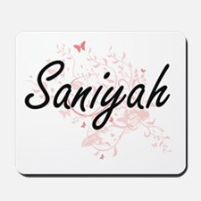 Saniyah Artistic Name Design with Butter Mousepad