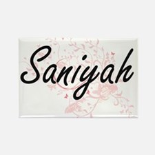 Saniyah Artistic Name Design with Butterfl Magnets