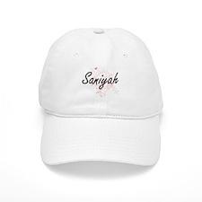 Saniyah Artistic Name Design with Butterflies Baseball Cap