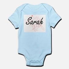 Sarah Artistic Name Design with Butterfl Body Suit