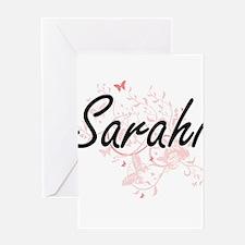 Sarahi Artistic Name Design with Bu Greeting Cards