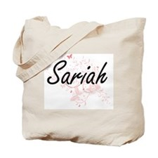 Sariah Artistic Name Design with Butterfl Tote Bag