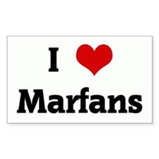 I Love Marfans Rectangle Decal