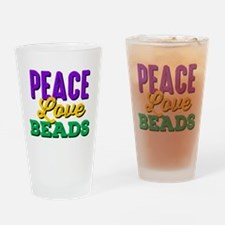 Peace Love Beads Drinking Glass
