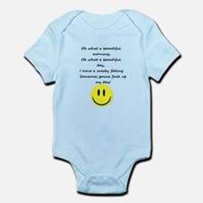 Naughty Smiley with Text Body Suit