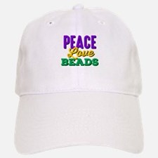 Peace Love Beads Baseball Baseball Cap