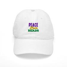Peace Love Beads Baseball Cap
