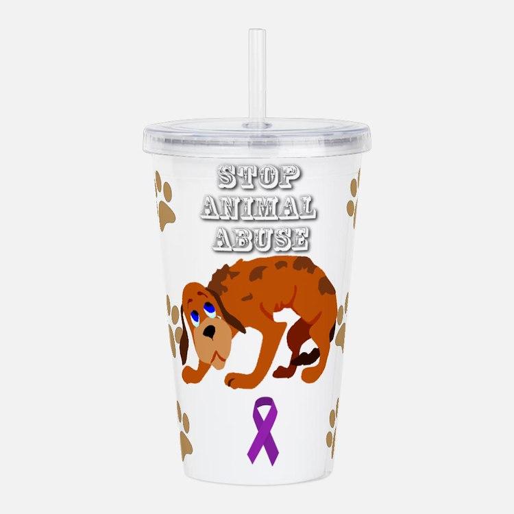 Stop Animal Abuse Awar Acrylic Double-wall Tumbler
