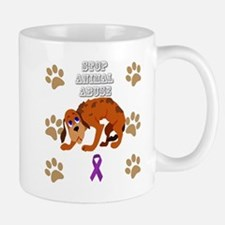 Stop Animal Abuse Awareness Mugs