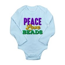 Peace Love Beads Long Sleeve Infant Bodysuit