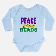 Peace Love Beads Long Sleeve Infant Bodysuit