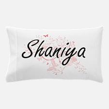 Shaniya Artistic Name Design with Butt Pillow Case