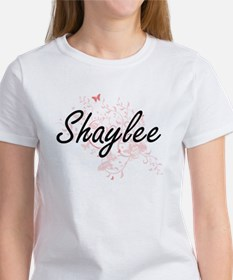 Shaylee Artistic Name Design with Butterfl T-Shirt