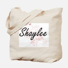 Shaylee Artistic Name Design with Butterf Tote Bag