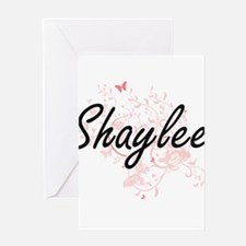 Shaylee Artistic Name Design with B Greeting Cards