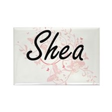 Shea Artistic Name Design with Butterflies Magnets